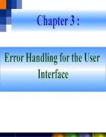Chapter 3 Error Handling for the User Interface