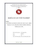 Mô hình tập đoàn kinh tế Việt Nam - Hiện trạng và xu hướng phát triển trong thời gian tới