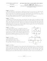 Đề thi học sinh giỏi vật lí lớp 9 tỉnh hải dương  (kèm đáp án) đề 6