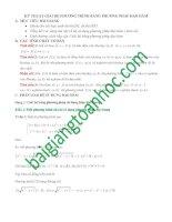 Giải hệ phương trình bằng phương pháp đạo hàm