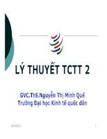 Bài giảng lý thuyết tài chính tiền tệ chương 8   GVC ths nguyễn thị minh quế