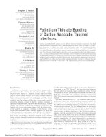 palladium thiolate bonding of carbon nanotube thermal interfaces