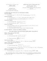 đề thi học kì môn toán lớp 10 tỉnh đồng tháp (đề 27)