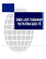 bài giảng kinh doanh quốc tế chương 10 CHIẾN LƯỢC THÂM NHẬP THỊ TRƯỜNG QUỐC TẾ