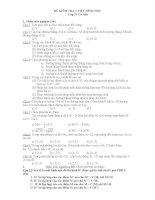 đề thi trắc nghiệm hình học môn toán lớp 11