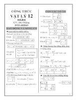 Nhớ nhanh công thức vật lý 12