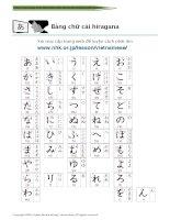 bảng chữ hiragana vietnamese