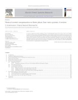 Neutral current compensation in three phase, four wire systems  a review