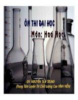 ôn thi đại học môn hóa học - chuyên đề muối phản ứng với axit