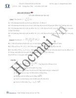 Bài tập theo chuyên đề. Hàm số và các bài toán liên quan - hocmai