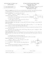 Đề thi + đáp án vào lớp 10 hải dương môn vật lý