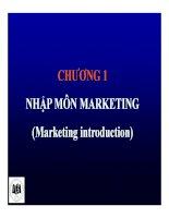 Bài giảng Marketing căn bản: Chương 1 - ĐH Kinh tế