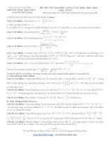 tuyển tập đề thi thử toán lý hóa sinh  2014 THPT trần phú hà tĩnh lần 2