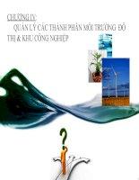 chương iv quản lý các thành phần môi trường  đô thị và khu công nghiệp