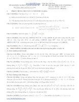 Đề thi thử đại học môn Toán khối D - THPT Hùng Vương