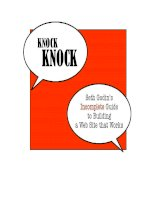 Knock Knock: Seth Godin's Incomplete Guide to Building a Web Site that Works