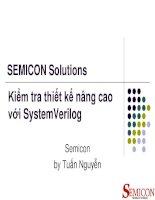 Kiểm tra thiết kế nâng cao với system verilog