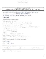 bài tập về số mũ, logarit
