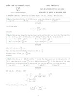 giải chi tiết đề thi đại học 2013 môn vật lý