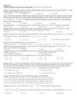 Tổng hợp 10 đề thi thử đại học theo cấu trúc của bộ kèm đáp án môn vật lý