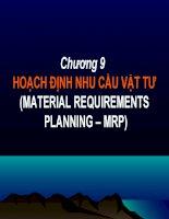 Bài giảng Quản trị sản xuất và tác nghiệp: Chương 9