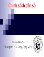 Bài giảng dân số và phát triển bài 6   ths  nguyễn thành nghị