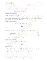 Các dạng phương trình, bất phương trình và hệ phương trình vô tỷ trọng tâm trong đề thi đại học