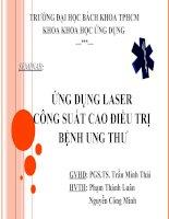 seminar ứng dụng laser công suất cao điều trị bệnh ung thư