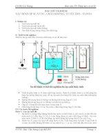 Báo cáo thí nghiệm hóa lý bài 1