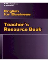 Teacher's resource book