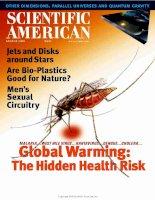 scientific american   -  2000 08  -  global warming  -  the hidden health risk