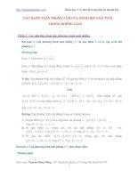 Các dạng toán về hình học giải tích trong không gian ôn thi đại học 2013