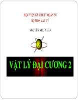 Bài giảng vật lý đại cương 2 chương 7 QUANG HỌC SÓNG   GV  nguyễn như xuân