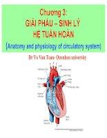 chương 3 giải phẩu – sinh lý hệ tuần hoàn