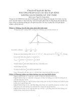 Phương pháp giải các bài tập hình học không gian trong các kỳ thi TSĐH