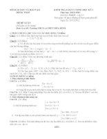 đề thi học kì môn toán lớp 10 tỉnh đồng tháp (đề 7)