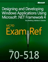 designing and developing windows applications using microsoft.net framework 4