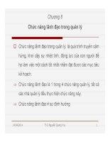 Bài giảng Quản lý học: Chương 8 - Th.S Nguyễn Quang Huy