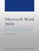 Microsoft Word 2010. Tài liệu dành cho chương trình chứng chỉ B tin học