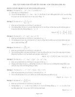 bài tập theo chuyên đề ôn thi đh môn toán phần 1
