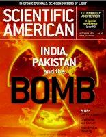 scientific american   -  2001 12  -  india, pakistan and the bomb