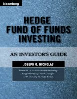 hedge fund of funds investing - an investor's guide [2004 isbn1576601242]