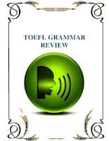 ôn tập ngữ pháp thi TOEFL  (TOEFL grammar review)