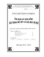 SKKN: Ứng dụng kỹ năng sống vào trong mỗi tiết của bộ môn Tin học