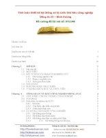 Tính toán thiết kế hệ thống xử lý nước thải khu công nghiệp đồng an II – bình dương