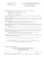 đề kiểm tra hsg lớp 8 môn hóa học