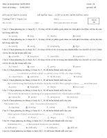 đề kiểm tra và đáp án 1 tiết lần i học kỳ ii môn anh văn lớp 12 năm học 12-13