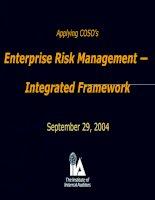 enterprise risk management — integrated framework