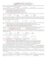 Bài tập về dao động điện từ (LTĐH) + đáp án