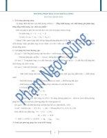 Giải bài tập hóa bằng phương pháp bảo toàn khối lượng
